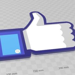 "FB LIKE.JPG Download STL file Facebook ""LIKE"" • 3D printing design, TKTrooper"
