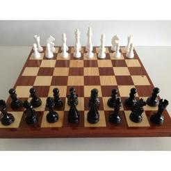 STL files Chess pieces / Chess set, woody3d974