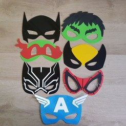 Download 3D printing files Superhero masks (PROMO), woody3d974