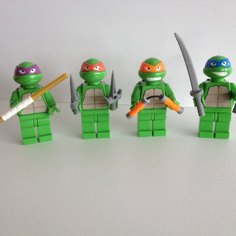 Free 3D file Lego Ninja Turtle for lego duplo ・ Cults