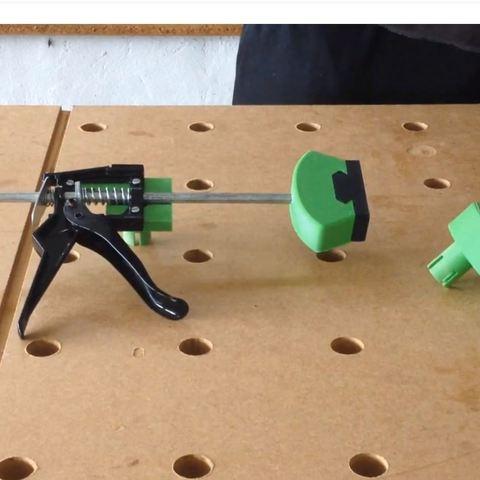 1.JPG Télécharger fichier STL Système de serrage rapide pour table multifonction de type MFT Festool • Objet imprimable en 3D, woody3d974