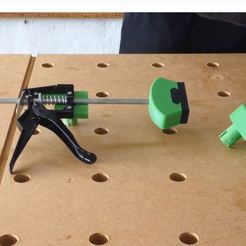 Download STL file Quick-clamping system for MFT Festool type multifunction table, woody3d974