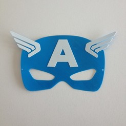 3D printer models Captain America mask / Masque Captain America mask, woody3d974