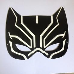 Descargar archivos 3D Máscara Pantera Negra / Masque la Panthère Noire, woody3d974