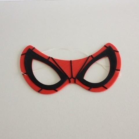 Impresiones 3D gratis Máscara Spiderman / Máscara Spiderman, woody3d974