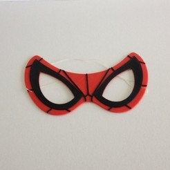 spiderman.JPG Download free STL file Spiderman Mask / Masque Spiderman • 3D printable template, woody3d974
