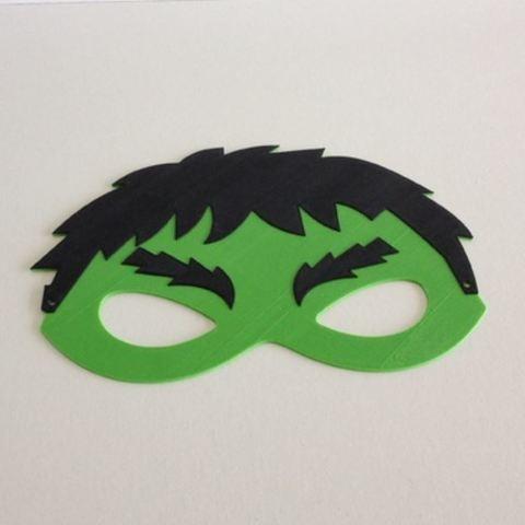 Free 3D printer designs Hulk mask / Masque Hulk, woody3d974