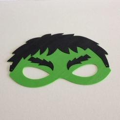Free 3D printer designs Hulk mask / Masque Hulk, woody3d974