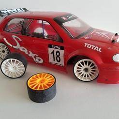 Imprimir en 3D Modelado de llantas y neumáticos de deriva RC, woody3d974