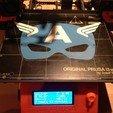 Download STL file Captain America mask / Masque Captain America mask • 3D print object, woody3d974
