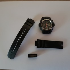 Télécharger STL Bracelet complet et attache (flexibles) pour montre Casio G-Shock, woody3d974