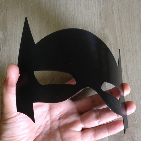 IMG_4018.JPG Download STL file Batman mask / Masque Batman • 3D printable template, woody3d974