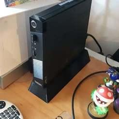 20200422_142325.jpg Télécharger fichier STL gratuit Stand pour le Lenovo ThinkCentre M73 Tiny • Objet imprimable en 3D, ykratter