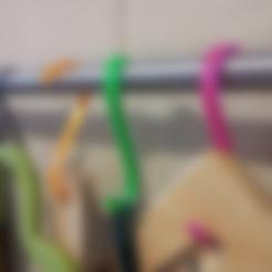 Free 3D printer designs Ikea Hooks (GRUNDTAL?), ykratter