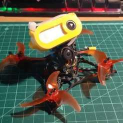 Download free STL file Insta360go mount for Larva-X • Object to 3D print, ykratter
