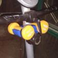 Free 3D printer model Dumbbell holder for Exercise Bikes, ykratter