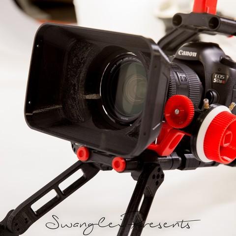 格式工厂_W4A9905.jpg Download free STL file 3D print shoulder rig V2.0 • 3D printer design, SWANGLEI