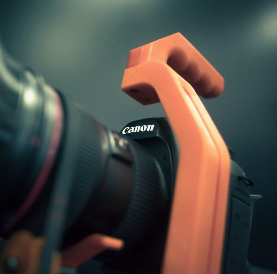 Download Free Stl File Shoulder Rig For Dslr Not Just For Canon 5d 3d Printer Template Cults