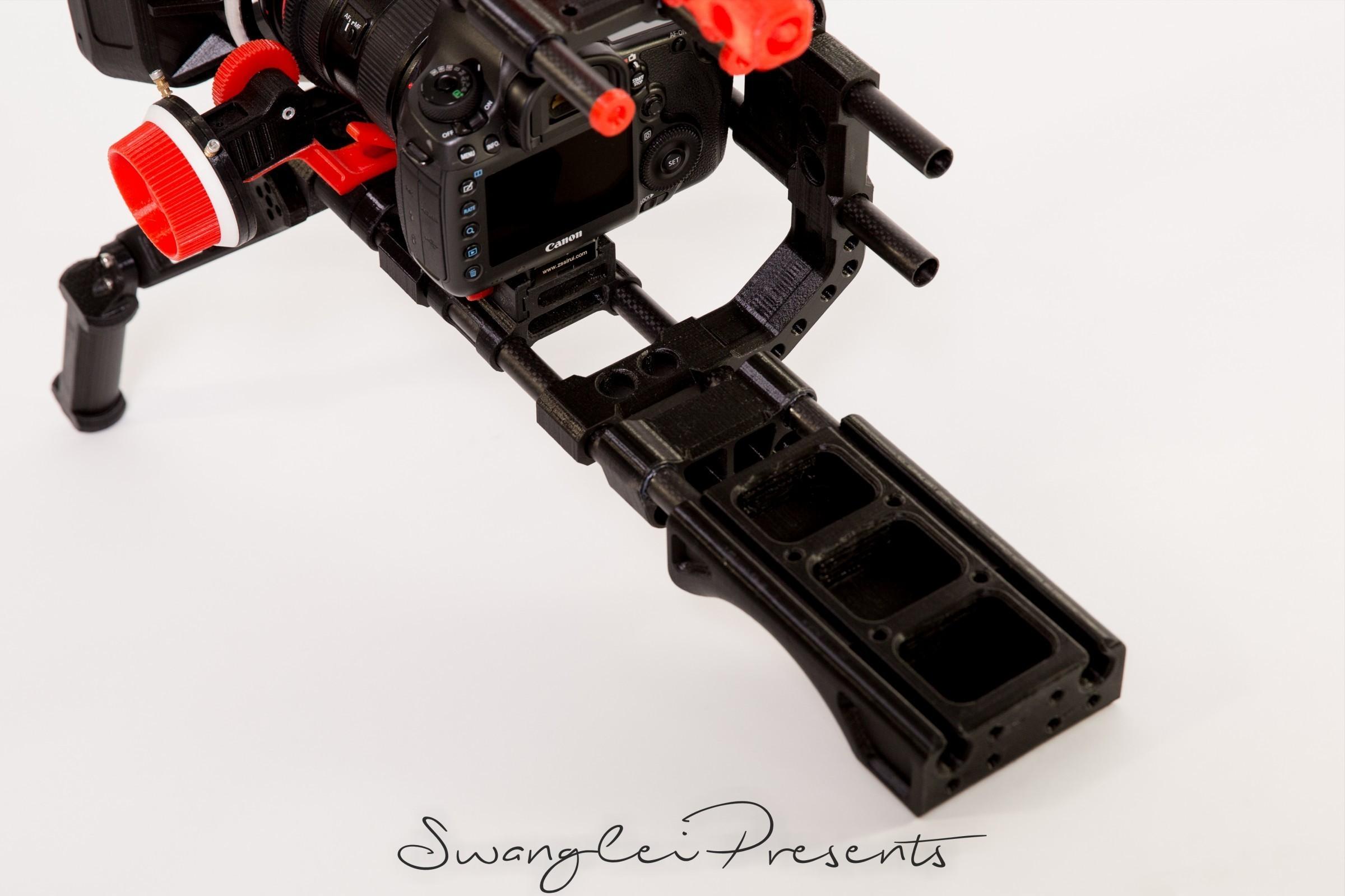 格式工厂_W4A9894.jpg Download free STL file 3D print shoulder rig V2.0 • 3D printer design, SWANGLEI