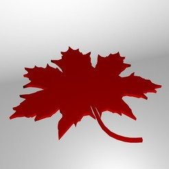 Download free OBJ file Maple Leaf • 3D printable model, Superer012