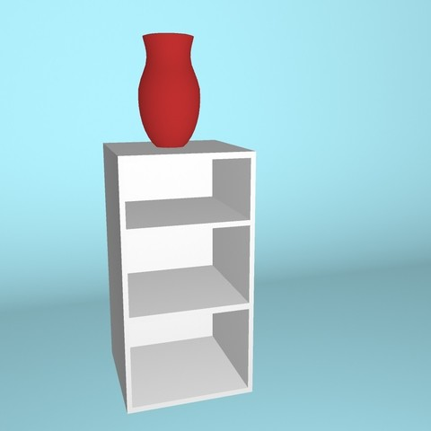 Download free 3D printing templates Bookcase with vase, Superer012