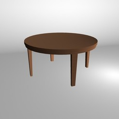 Free 3D model Round table, Superer012