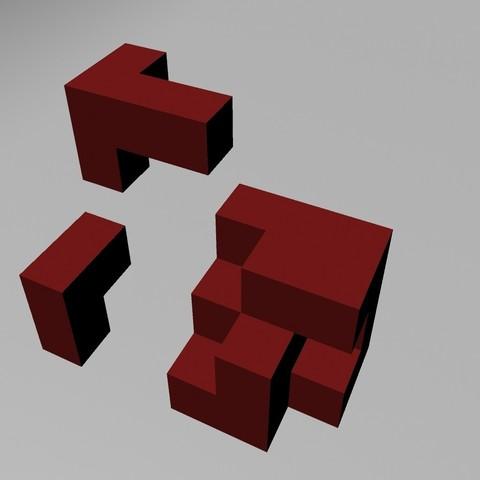 Download free OBJ file Cubic Puzzle • 3D printable design, Superer012