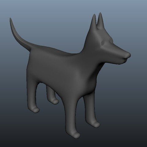 Free 3D printer model Dog Doberman, Superer012