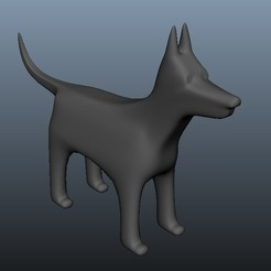 doverman.jpg Download free OBJ file Dog Doberman • 3D printing model, Superer012