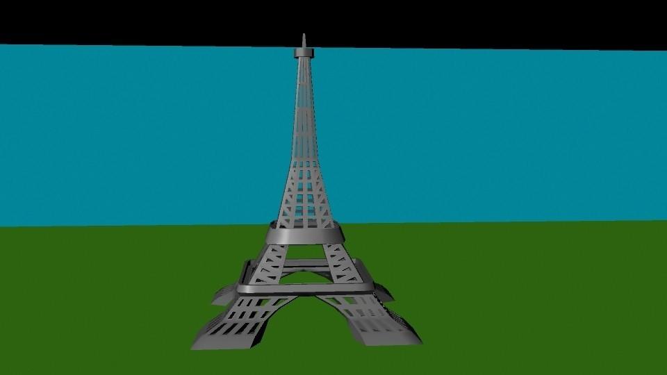 torre eiffel.jpg Télécharger fichier OBJ gratuit tour Eiffel • Design pour imprimante 3D, Superer012