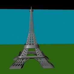 Free Eiffel Tower 3D printer file, Superer012