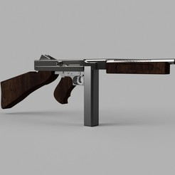 tommy_gun_2018-Mar-23_07-56-11PM-000_CustomizedView43887111897_jpeg.jpg Download STL file WW2 Thompson submachine gun • 3D printer model, Sandhead