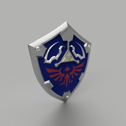 Download 3D printer templates The Legend Of Zelda Hylian Shield (Life size), Sandhead