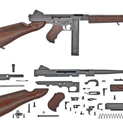 WW2 Thompson submachine gun STL file, DiegoArenaza