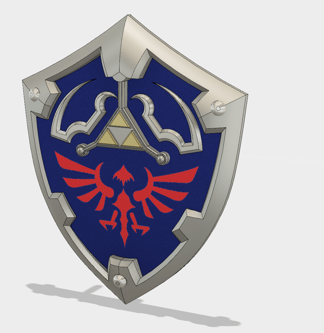 Captura de pantalla 2018-03-25 a la(s) 18.46.14.png Download STL file The Legend Of Zelda Hylian Shield (Life size) • 3D printable model, Sandhead