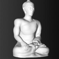Download STL files Powerful Healing Buddha Sculpture, FluteMaker