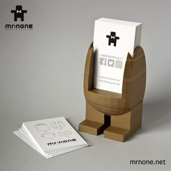 modelo stl gratis Mr.NoNe - Business Card Holder, NoNe