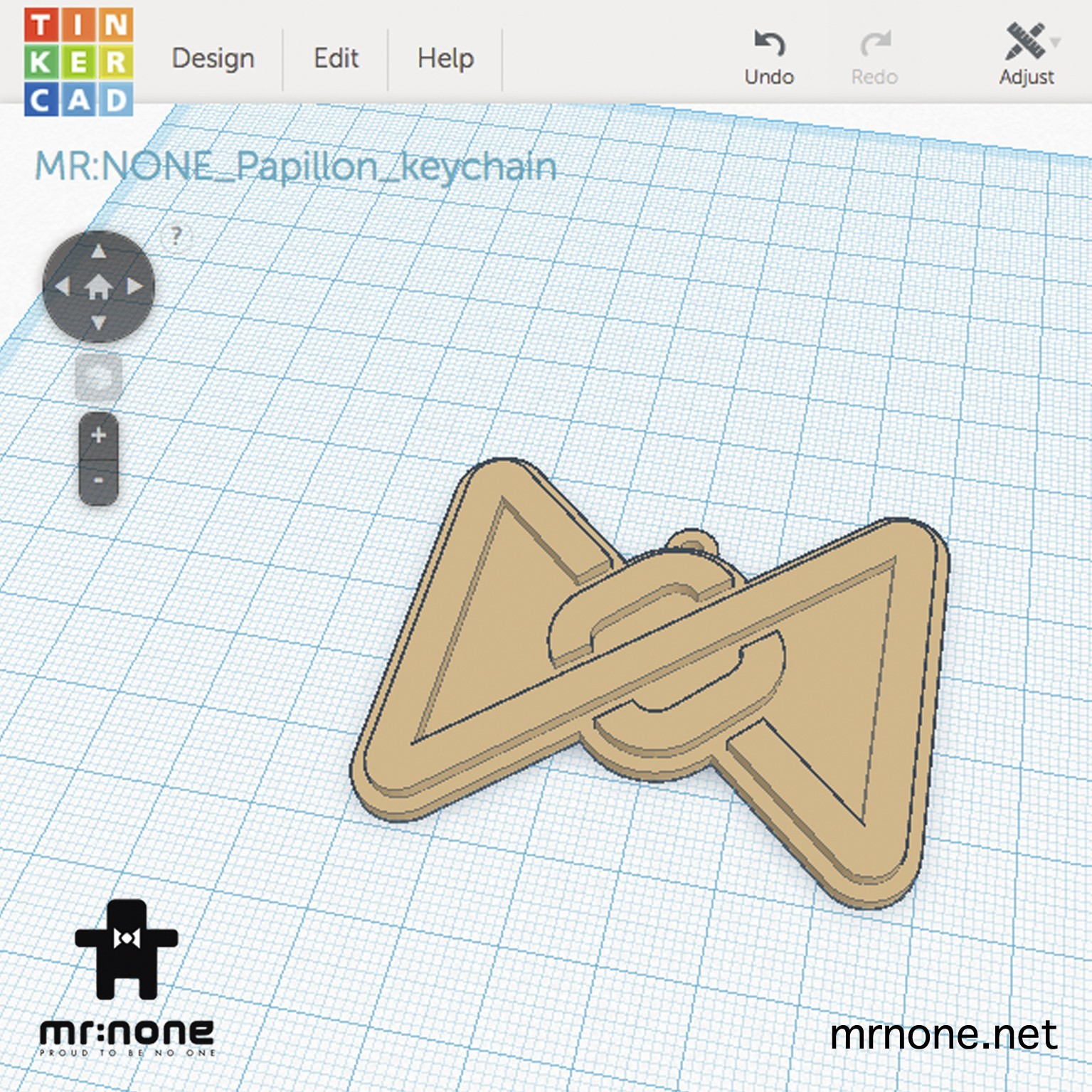 P_keychain05.jpg Download free STL file Papillon keychain • 3D printing design, NoNe