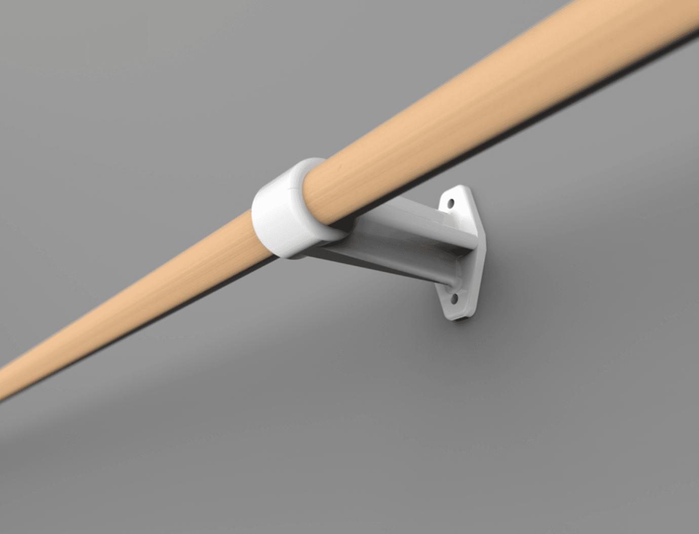 Capture d'écran 2018-04-09 à 15.54.24.png Download free STL file Curtain rod support • 3D printing template, yoyo-31