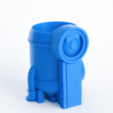 Free 3D printer file Minion stone age planter, yoyo-31