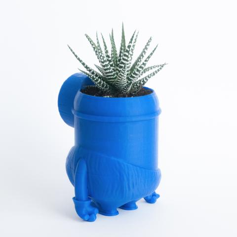 Capture d'écran 2017-02-21 à 17.36.23.png Download free STL file Minion stone age planter • 3D printer design, yoyo-31