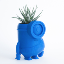 Free 3D printer file Minion stone age planter, yoyo-31
