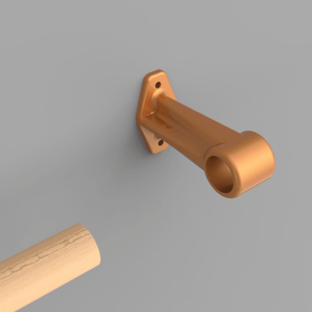 Capture d'écran 2018-04-09 à 15.54.18.png Download free STL file Curtain rod support • 3D printing template, yoyo-31