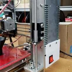 Descargar archivos 3D gratis Caja de conmutación de aluminio Prusa I3 de Geetech y gabinete de la red eléctrica, donek