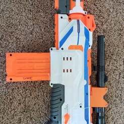 Download free 3D printer templates Nerf to Real Scope Adapter, donek