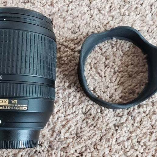 Download free 3D printer designs Nikon Lens Hood HB-32, donek