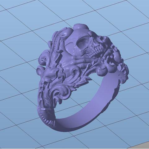 vintage-skull-ring-3d-model-for-3d-printing-3d-model-obj-stl (5).jpg Download OBJ file Vintage Ring • 3D print template, Roman_Kharikov