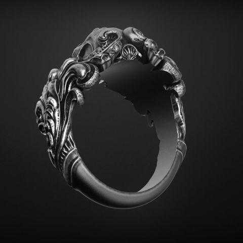 vintage-skull-ring-3d-model-for-3d-printing-3d-model-obj-stl (3).jpg Download OBJ file Vintage Ring • 3D print template, Roman_Kharikov