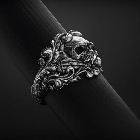 vintage-skull-ring-3d-model-for-3d-printing-3d-model-obj-stl (1).jpg Download OBJ file Vintage Ring • 3D print template, Roman_Kharikov