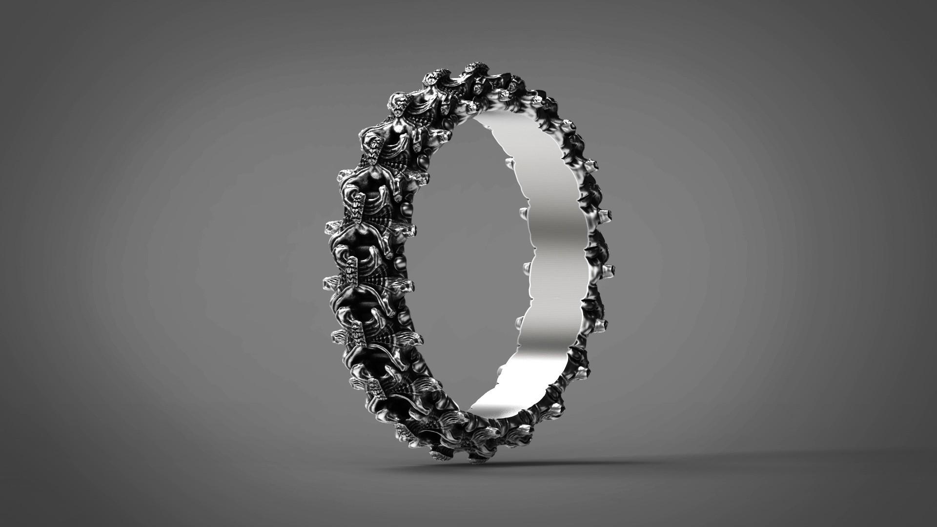 6.jpg Download OBJ file Biomechanical Ring - SpineRing  • 3D print object, Roman_Kharikov